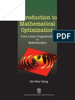 Introduction to Mathematical Optimization Xin she yang