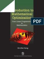 Introduction to Mathematical Optimization Xin she yang