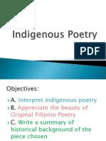 Indigenous Poetry