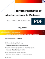 Solutions for Fire Resistance of Steel Structures in Vietnam