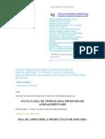 Proiect de Diploma Tehnologia Produselor Agroalimentare
