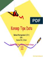 Konsep Tipe Data