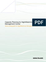Capacity Planning for NightWatchman Management Center