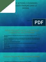 Obtenez une vue d'ensemble sur Top françaises menant dividendes des actions du CAC 40