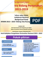 RPJM/Renstra Bidang Pertanahan 2015-2019