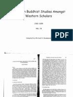 Trends in Buddhist Studies Amongst Western Scholars Vol. 13