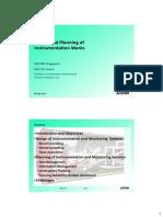 Design and Planning of Instrumentation Works