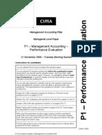 P1 Pilot Paper MA 2006 2