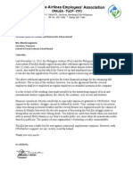 Letter of Gratitude from PALEA to Crusada