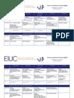 VA 2013 Programme