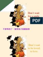 不要等待。。。(英语)