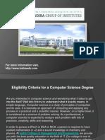 Eligibility Criteria for a Computer Science Degree