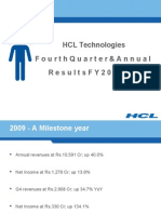 HCLTech fourth quarter and annual results FY 2008-09