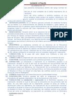 GLOSARIO SESION N° 03 VALORACION DE LOS SIGNOS VITALES
