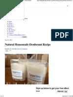 Natural Homemade Deodorant Recipe - The Humbled Homemaker