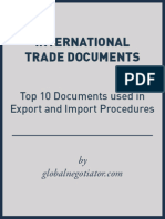 EXPORT AND IMPORT DOCUMENTS