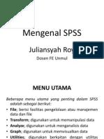 """SPSS SPSS Statistik adalah paket perangkat lunak yang digunakan untuk analisis statistik . Panjang yang diproduksi oleh SPSS Inc , diakuisisi oleh IBM pada tahun 2009 , dan versi saat ini secara resmi bernama IBM SPSS Statistics . Produk pendamping dalam keluarga yang sama yang digunakan untuk survei authoring dan penyebaran ( IBM SPSS Pengumpulan Data ) , data ( layanan scoring otomatis batch dan ) pertambangan ( IBM SPSS Modeler ) , analisis teks , dan kolaborasi dan penyebaran .  isi      1 Ikhtisar     2 Versi dan sejarah kepemilikan     3 sejarah Rilis     4 Lihat juga     5 Catatan     6 Referensi     7 Pranala luar  Ikhtisar  SPSS adalah salah program yang paling banyak digunakan untuk analisis statistik dalam ilmu sosial . Hal ini juga digunakan oleh peneliti pasar , peneliti kesehatan , perusahaan survei , pemerintah , peneliti pendidikan , organisasi pemasaran , dan lain-lain . Asli SPSS manual ( Nie , Bent & Hull , 1970) telah digambarkan sebagai salah satu """" b"""