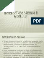 Temperatura Aerului Si a Solului