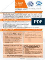 ISO 22301 Lead Implementer - Two Page Brochure
