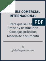 Modelo Factura Comercial Internacional