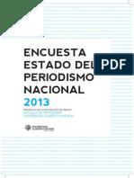 Folleto IV Encuesta Estado Del Periodismo Nacional 2013