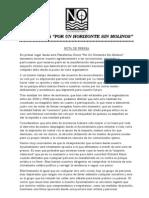 Nota de Prensa Sobre Manifestacion