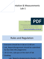 Instrumentation and Measurement