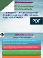 2010 STCW Manila Amendments