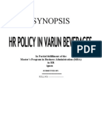Synopsis Hr Policy