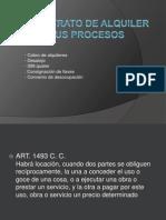 Civil - El Contrato de Alquiler y Sus Procesos