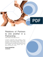 Relation of Partners in a Partnership