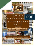 """""""Chile, Catástrofes y Tragedias 2012"""", Vol. III"""