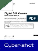 Sony Dsc-w230 Instruction Manual