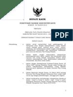 Peraturan Daerah Kabupaten Kaur Nomor