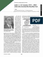 A Tribute to Fernando L. L. B. Carneiro (1913 - 2001)