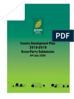 DLI County Development Plan Green Party Submission FINAL 2009