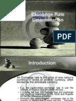 exchange rate determination-