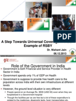 Step Towards UHC in India - Example of RSBY