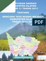 Peraturan Daerah Kabupaten Klaten Nomor 11 Tahun 2011 Tentang Rencana Tata Ruang Wilayah Kabupaten Klaten Tahun 2011 - 2031