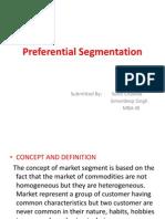 Preferential Segmentaion
