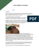 Tratamiento de Residuos Avicolas Compost