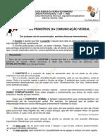 PRINCIPIOS COMUNICAÇÃO VERBAL