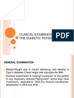Clinical Examination of a Diabetic Patient Er