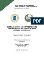 Calculo de Soldadura Tesis Master Francisco j Fraile Griborio