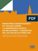 Principios orientadores de Toledo sobre la enseñanza acerca de religiones y creencias en las escuelas públicas