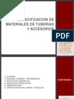Copia de Especificacion de Materiales de Tuberias y Accesorios