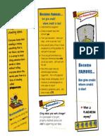 plagiarism brochure secondary
