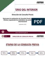 Protocolo de Consulta Previa del Ministerio del Interior