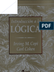 Introducción a la lógica, Irving M. Copi & Carl Cohen