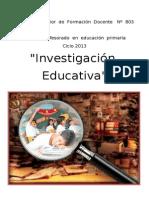 Trabajo Investigacion Educativa